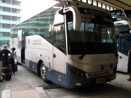 Bus de Hua Hin à l'aéroport de Bangkok