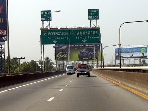 Route de Bangkok à Cha-am