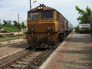 Le train #262 de Cha-Am à Bangkok.