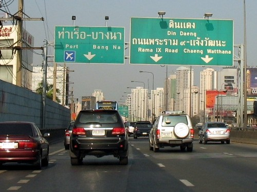 The road from Cha-am to Bangkok