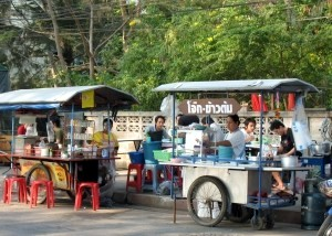 A food stall.