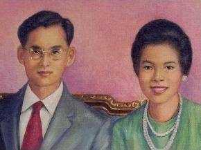 Le Roi Bhumibol Adulyadej et la Reine Sirikit