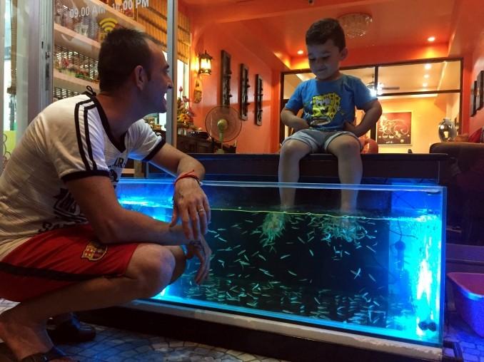 "Le ""fish spa""."