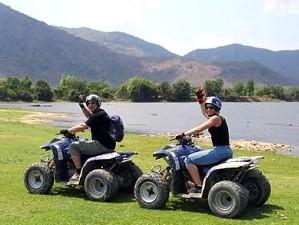 ATV driving.