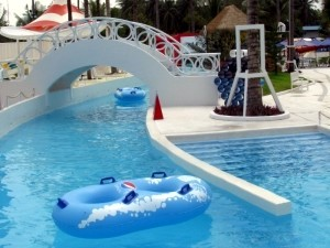 The lazy river.