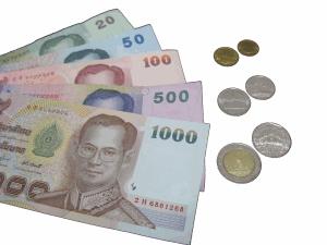 Billets et pièces en Thaïlande