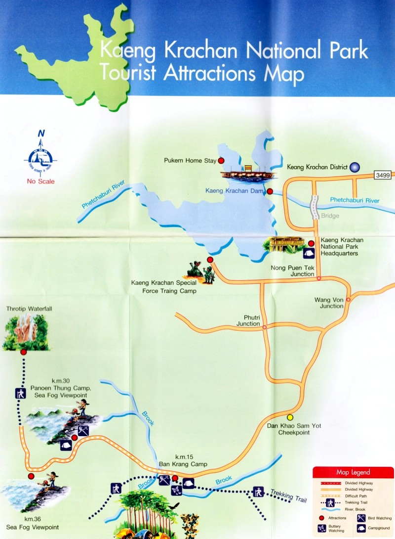 Kaeng Krachan map