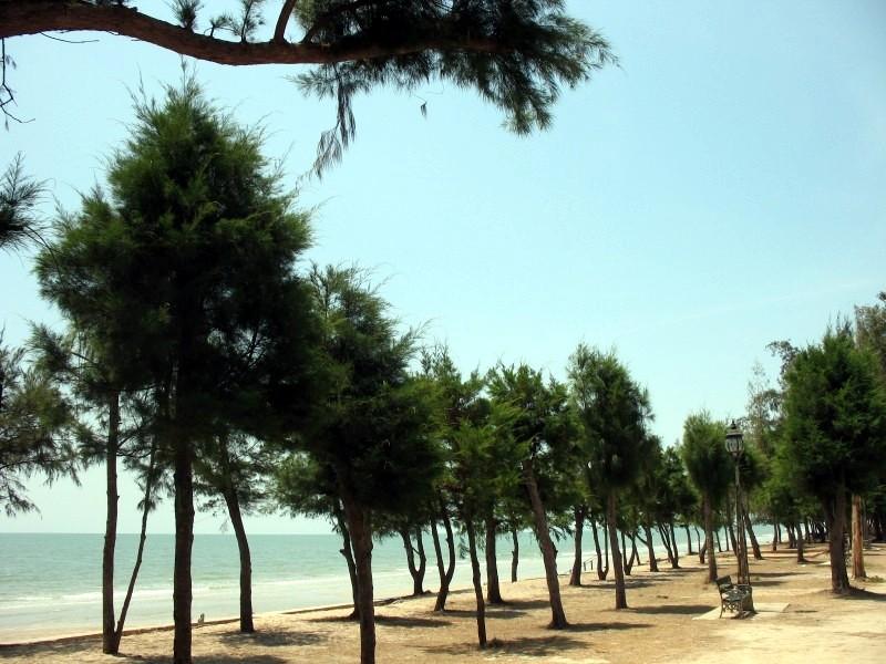 La plage devant l'hôtel.