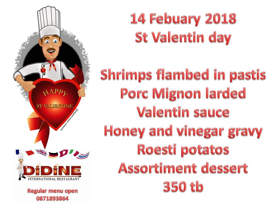 Valentine's Day 2018 at Didine